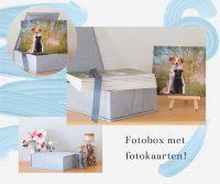 fotobox met fotokaarten
